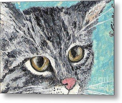 Tiger Cat Metal Print by Reina Resto