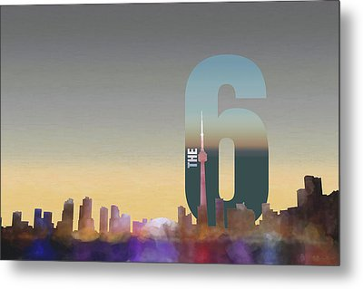 Toronto Skyline - The Six Metal Print by Serge Averbukh