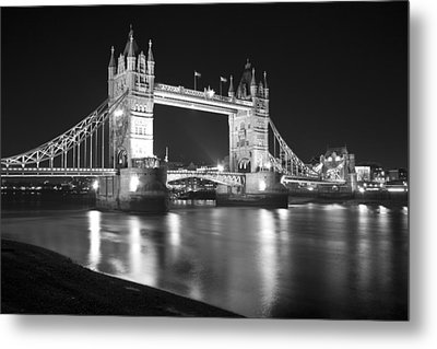 Tower Bridge On The Thames London Metal Print