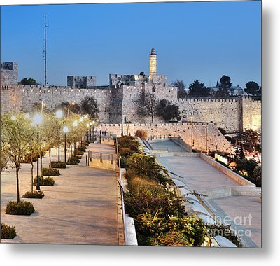 Tower Of David Metal Print by Noam Armonn