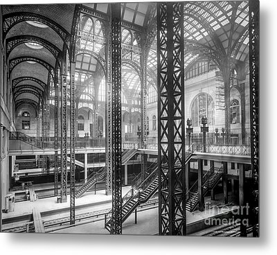 Track Level And Concourses Pennsylvania Station New York Metal Print