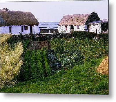 Traditional Cottages, Co Galway, Ireland Metal Print by The Irish Image Collection