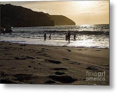 Metal Print featuring the photograph Photographs Of Cornwall Trevellas Cove Cornwall by Brian Roscorla