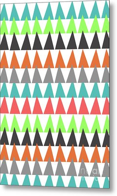 Triangles Metal Print by Louisa Knight