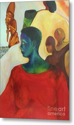Metal Print featuring the painting Trickster by Daun Soden-Greene