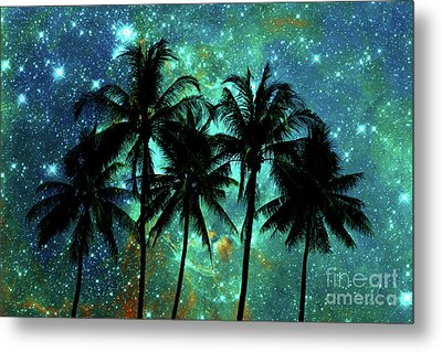 Metal Print featuring the photograph Tropical Night by Delphimages Photo Creations