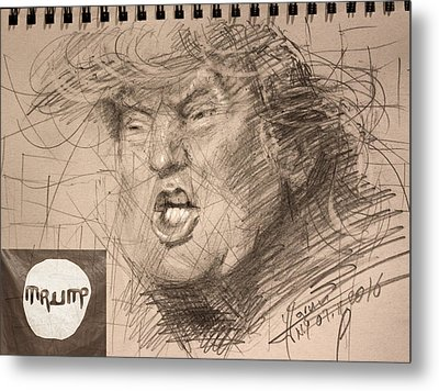 Trump Metal Print by Ylli Haruni