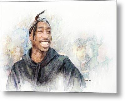 Tupac 21 Metal Print by Jani Heinonen