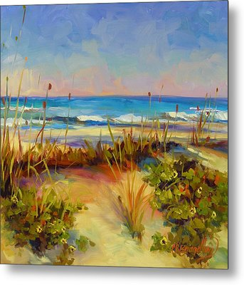 Metal Print featuring the painting Turquoise Tide by Chris Brandley