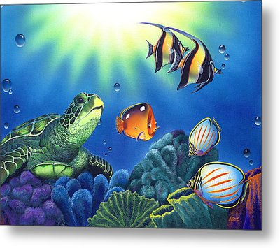 Turtle Dreams Metal Print by Angie Hamlin
