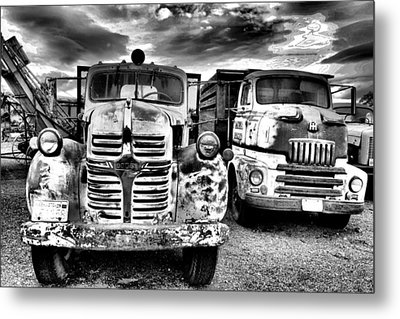Metal Print featuring the photograph Two Old Beauties by Jeff Swan