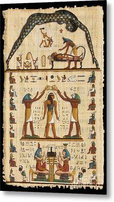 Twokupamun Papyrus Metal Print