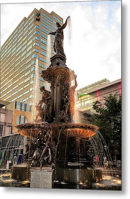 Tyler Davidson Fountain Metal Print