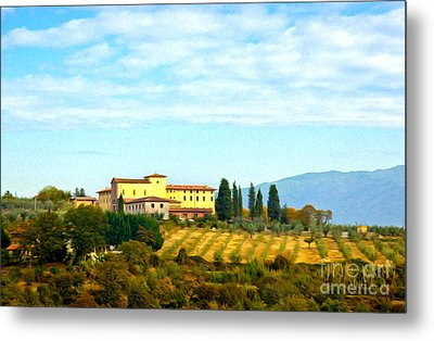 Typical Tuscan Hill Metal Print