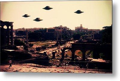 Ufo Rome Metal Print by Raphael Terra