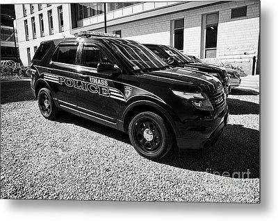 umass university campus police patrol vehicle Boston USA Metal Print