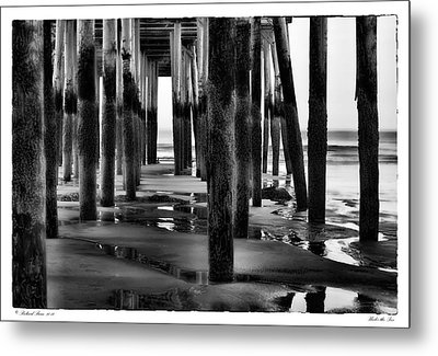 Under The Pier Metal Print by Richard Bean
