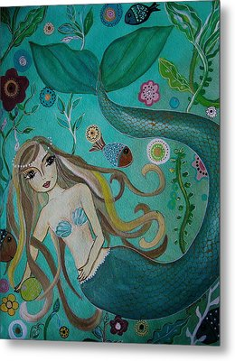 Under The Sea Metal Print by Pristine Cartera Turkus