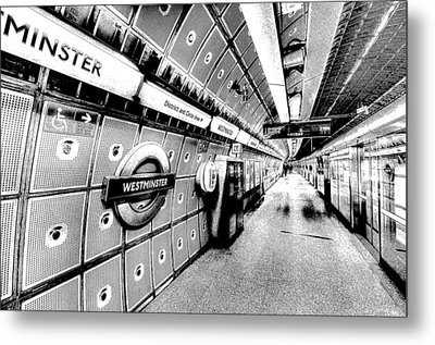 Underground London Art Metal Print by David Pyatt