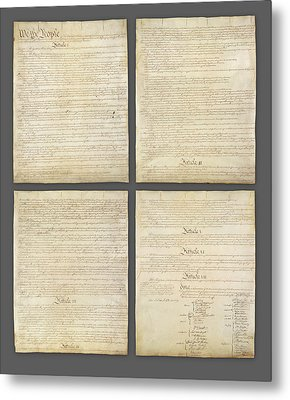United States Constitution, Usa Metal Print by Panoramic Images