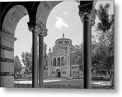 University Of California Los Angeles Powell Library Metal Print by University Icons
