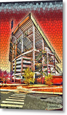 University Of Maryland - Byrd Stadium Metal Print by Stephen Younts