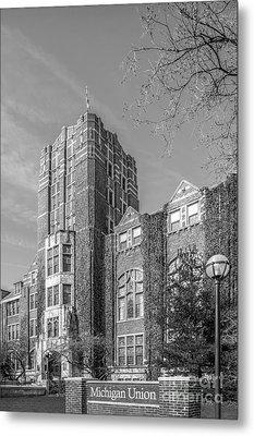 University Of Michigan Union Metal Print by University Icons