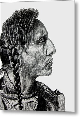 Unknown Indian II Metal Print by Stan Hamilton