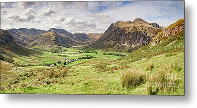Metal Print featuring the photograph Upper Langdale, English Lake District by Colin and Linda McKie
