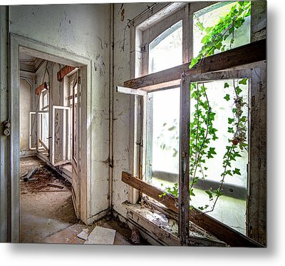 Urban Decay Nature Takes Over - Abandoned Building Metal Print by Dirk Ercken
