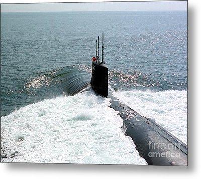 U.s. Navy Attack Submarine Uss Seawolf Metal Print by Stocktrek Images