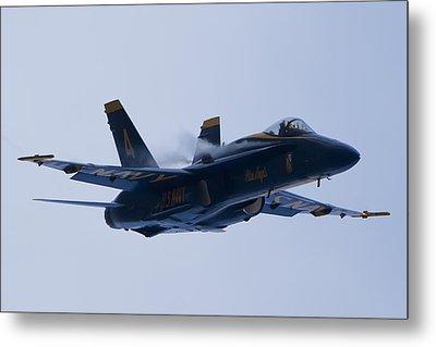 Us Navy Blue Angels High Speed Turn Metal Print by Dustin K Ryan