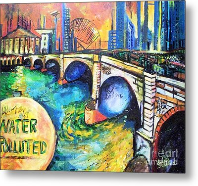 Van Gogh Today Metal Print by Linda Shackelford