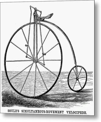 Velocipede, 1869 Metal Print by Granger