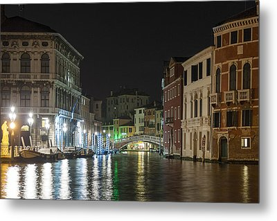 Metal Print featuring the photograph Romantic Venice  by Silvia Bruno