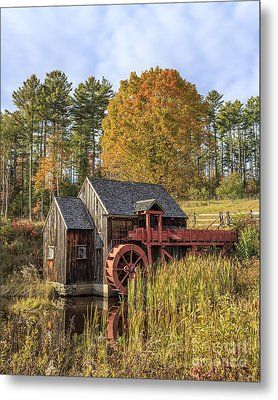 Metal Print featuring the photograph Vermont Grist Mill by Edward Fielding