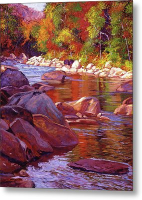Vermont River Metal Print by David Lloyd Glover