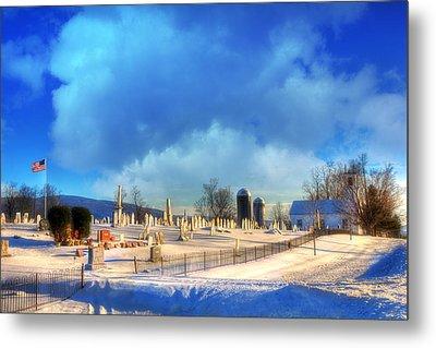 Vermont Winter Scene Metal Print by Joann Vitali