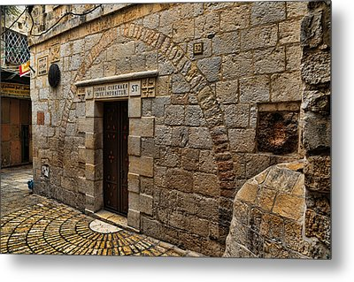 Via Dolorosa Station V Metal Print by Stephen Stookey