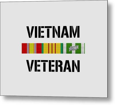 Vietnam Veteran Ribbon Bar Metal Print