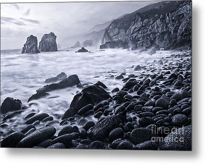 View Of Crashing Waves From Soberanes Point In Garrapata State P Metal Print by Jamie Pham