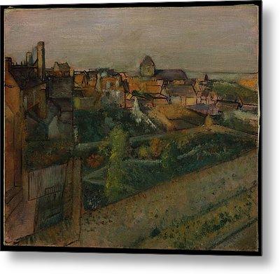 View Of Saint-valry-sur-somme Metal Print by Edgar Degas