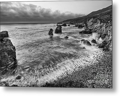 View Of The Rocky Coast From Soberanes Point In Garrapata State  Metal Print by Jamie Pham