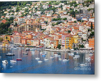 Villefranche-sur-mer View On French Riviera Metal Print by Elena Elisseeva
