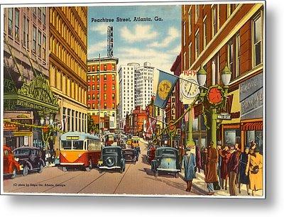 Vintage Atlanta Postcard Metal Print