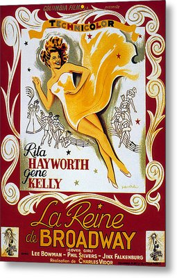 Vintage Poster Metal Print by French School