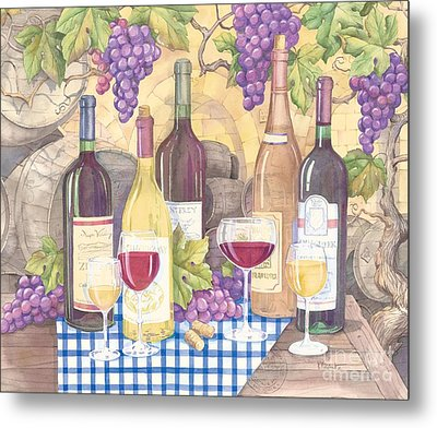 Vintage Wine I Metal Print by Paul Brent