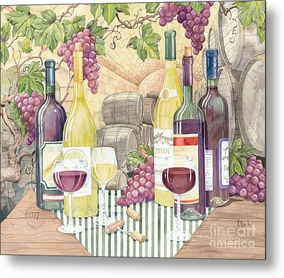 Vintage Wine II Metal Print by Paul Brent