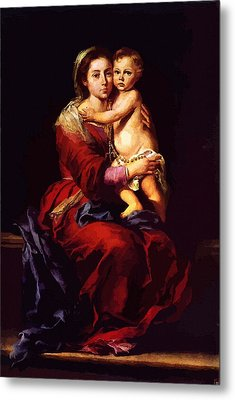 Virgin And Child Painting Metal Print