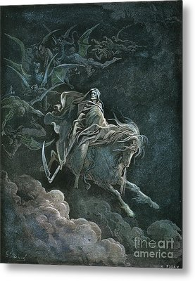 Vision Of Death Metal Print by Granger